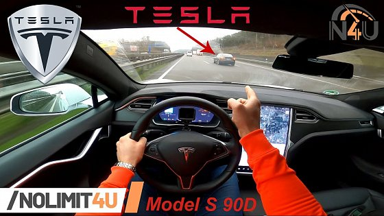 Video: Tesla Model S 90D TOP SPEED & ACCELERATION (0 - 100) REVIEW on German Autobahn / POV by NoLimit4U