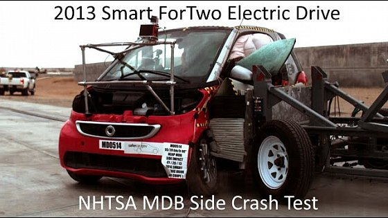 Video: 2013-2016 Smart ForTwo Electric Drive NHTSA MDB Side Crash Test