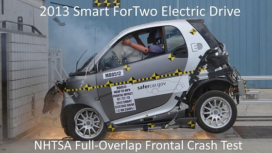 Video: 2013-2016 Smart ForTwo Electric Drive NHTSA Full-Overlap Frontal Crash Test