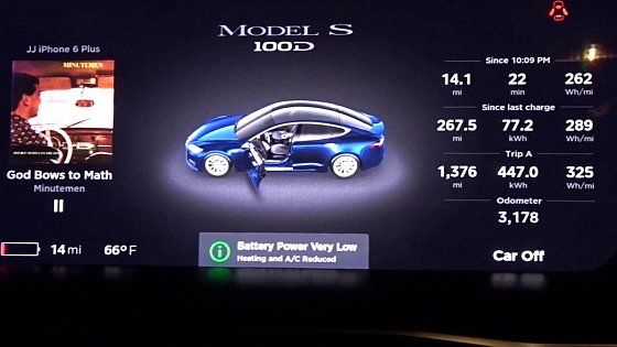 Video: Impressive Real World Range of Tesla Model S 100D