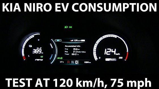 Video: Kia Niro EV consumption test at 120 km/h, 75 mph