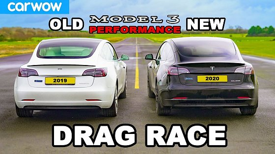 Video: New Tesla Model 3 v Old Model 3 - DRAG RACE