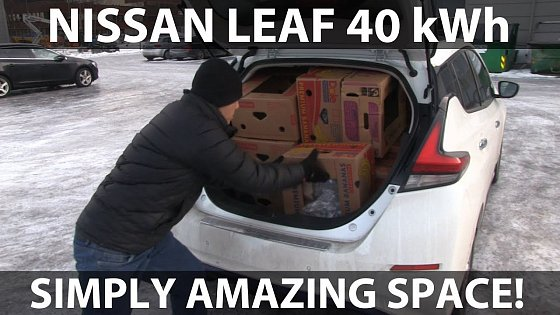 Video: Nissan Leaf 40 kWh banana box test