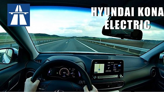 Video: 2020 Hyundai Kona electric | 100kW / 136PS | POV Top Speed/Acceleration Drive on German Autobahn