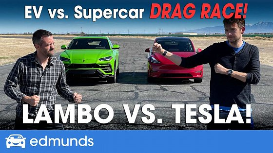 Video: Drag Race! Tesla Model Y vs. Lamborghini Urus | EV vs. Supercar | 0-60 Performance & more
