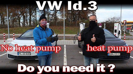 Video: VW Id.3 - Testing how much more efficient the heat pump is