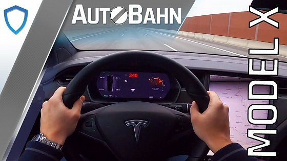 Video: AutoBahn - Tesla Model X Long Range (2020) - POV drive | 100-200 km/h | Top speed