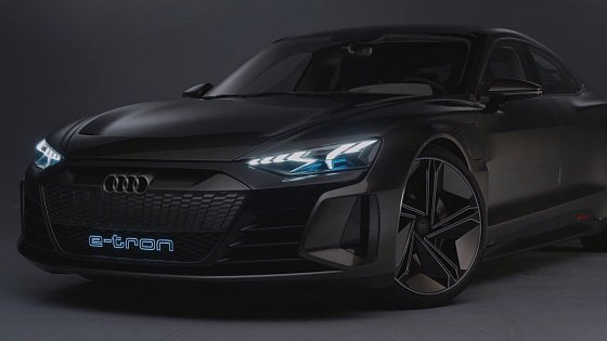 Video: 2019 Audi e-tron GT Con­cept Headlights & Tail Lights