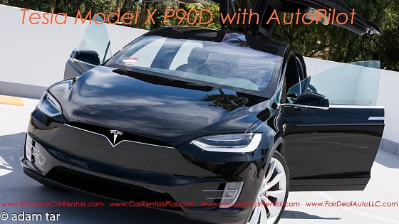 Video: Tesla Model X P90D AutoPilot Feature in Action!