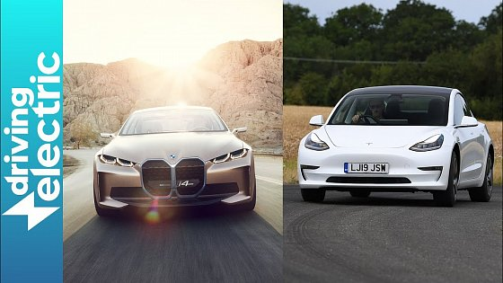 Video: Tesla Model 3 vs BMW i4 Concept – Numbers Game – DrivingElectric