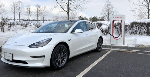The first Tesla Model 3 in Europe